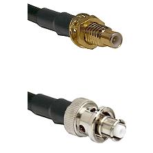 SMC Male Bulkhead on LMR-195-UF UltraFlex to SHV Plug Cable Assembly