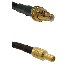 SMC Male Bulkhead on LMR-195-UF UltraFlex to SLB Male Cable Assembly