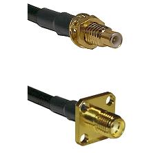 SMC Male Bulkhead on LMR-195-UF UltraFlex to SMA 4 Hole Female Cable Assembly