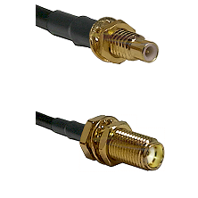 SMC Male Bulkhead on LMR-195-UF UltraFlex to SMA Female Bulkhead Cable Assembly