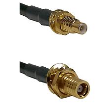 SMC Male Bulkhead on LMR-195-UF UltraFlex to SMB Female Bulkhead Cable Assembly
