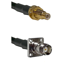 SMC Male Bulkhead on LMR-195-UF UltraFlex to TNC 4 Hole Female Cable Assembly