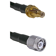 SMC Male Bulkhead on LMR-195-UF UltraFlex to TNC Male Cable Assembly