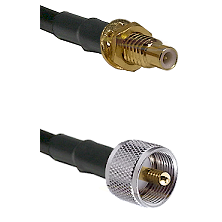 SMC Male Bulkhead on LMR-195-UF UltraFlex to UHF Male Cable Assembly