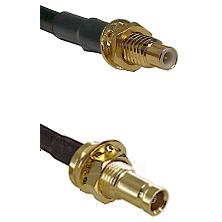 SMC Male Bulkhead on RG142 to 10/23 Female Bulkhead Cable Assembly