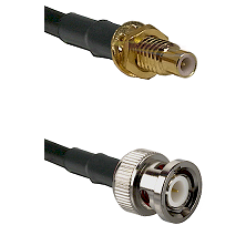 SMC Male Bulkhead on RG142 to BNC Male Cable Assembly
