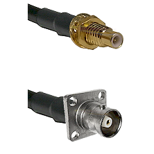 SMC Male Bulkhead on RG142 to C 4 Hole Female Cable Assembly