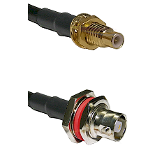 SMC Male Bulkhead on RG142 to C Female Bulkhead Cable Assembly