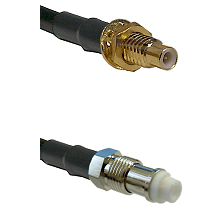 SMC Male Bulkhead on RG142 to FME Female Cable Assembly