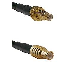 SMC Male Bulkhead on RG142 to MCX Male Cable Assembly