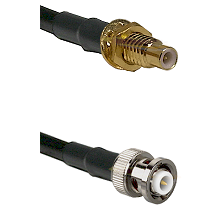 SMC Male Bulkhead on RG142 to MHV Male Cable Assembly