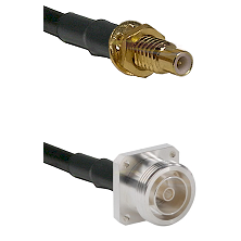 SMC Male Bulkhead on RG400 to 7/16 4 Hole Female Cable Assembly