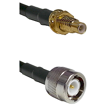 SMC Male Bulkhead on RG58C/U to C Male Cable Assembly