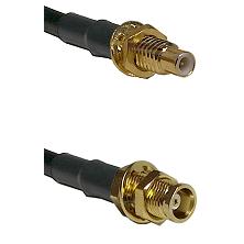 SMC Male Bulkhead on RG58C/U to MCX Female Bulkhead Cable Assembly