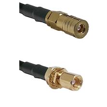 SSLB Female on Belden 83242 RG142 to SSMC Female Bulkhead Cable Assembly