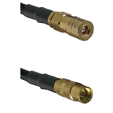 SSLB Female on LMR100 to MMCX Female Cable Assembly