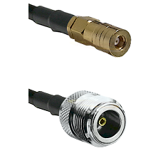 SSLB Female on LMR100 to N Female Cable Assembly