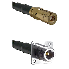 SSLB Female on LMR100 to N 4 Hole Female Cable Assembly