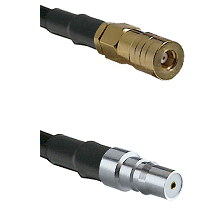 SSLB Female on LMR100 to QMA Female Cable Assembly