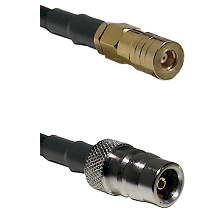 SSLB Female on LMR100 to QN Female Cable Assembly