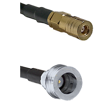 SSLB Female on LMR100 to QN Male Cable Assembly