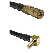 SSLB Female on RG188 to SSLB Right Angle Male Cable Assembly