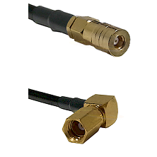 SSLB Female on RG188 to SSMC Right Angle Female Cable Assembly