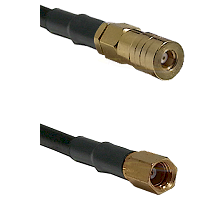 SSLB Female on RG188 to SSMC Female Cable Assembly