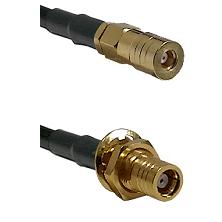 SSLB Female on RG223 to SMB Female Bulkhead Cable Assembly