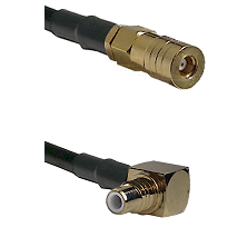 SSLB Female on RG316 to SMC Right Angle Male Cable Assembly