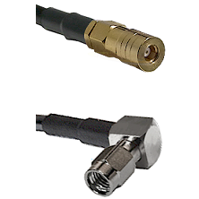 SSLB Female on RG316 to SSMA Right Angle Male Cable Assembly
