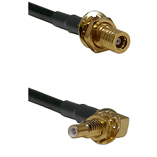 SSLB Female Bulkhead on Belden 83242 RG142 to SSLB Male Bulkhead Cable Assembly