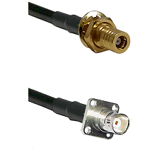 SSLB Female Bulkhead on LMR100 to BNC 4 Hole Female Cable Assembly