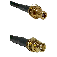 SSLB Female Bulkhead on LMR100/U to MCX Female Bulkhead Cable Assembly