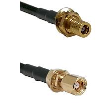 SSLB Female Bulkhead on LMR100 to SMC Female Bulkhead Cable Assembly