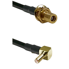 SSLB Female Bulkhead on RG188 to SSLB Right Angle Male Cable Assembly