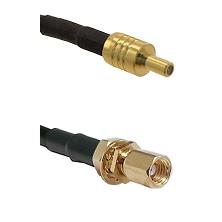 SSLB Male on Belden 83242 RG142 to SSMC Female Bulkhead Cable Assembly