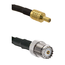 SSLB Male on LMR100 to Mini-UHF Female Cable Assembly