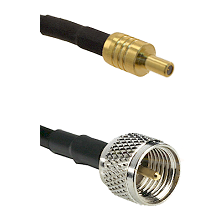 SSLB Male on LMR100 to Mini-UHF Male Cable Assembly