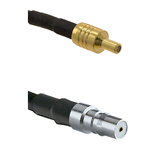 SSLB Male on LMR100 to QMA Female Cable Assembly
