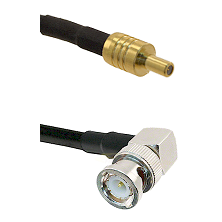 SSLB Male on LMR100 to BNC Right Angle Male Cable Assembly