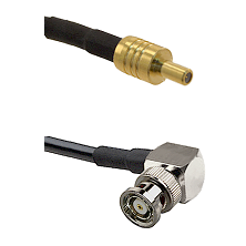 SSLB Male on LMR100 to BNC Reverse Polarity Right Angle Male Cable Assembly