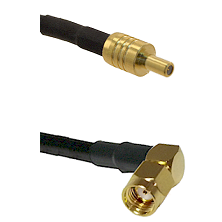 SSLB Male on LMR100 to SMA Reverse Polarity Right Angle Male Cable Assembly