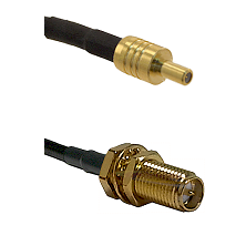 SSLB Male on LMR100 to SMA Reverse Polarity Female Bulkhead Cable Assembly