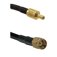 SSLB Male on LMR100 to SMA Reverse Polarity Male Cable Assembly