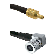 SSLB Male on LMR100 to QMA Right Angle Male Cable Assembly