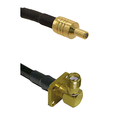 SSLB Male on LMR100 to SMA 4 Hole Right Angle Female Cable Assembly