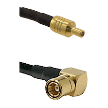 SSLB Male on LMR100 to SMB Right Angle Female Cable Assembly