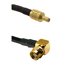 SSLB Male on LMR100 to SMC Right Angle Female Cable Assembly