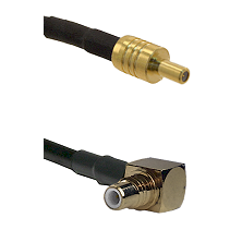 SSLB Male on LMR100 to SMC Right Angle Male Cable Assembly